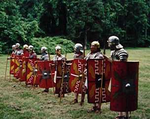 Re-enactors at Roman Days, June 1998