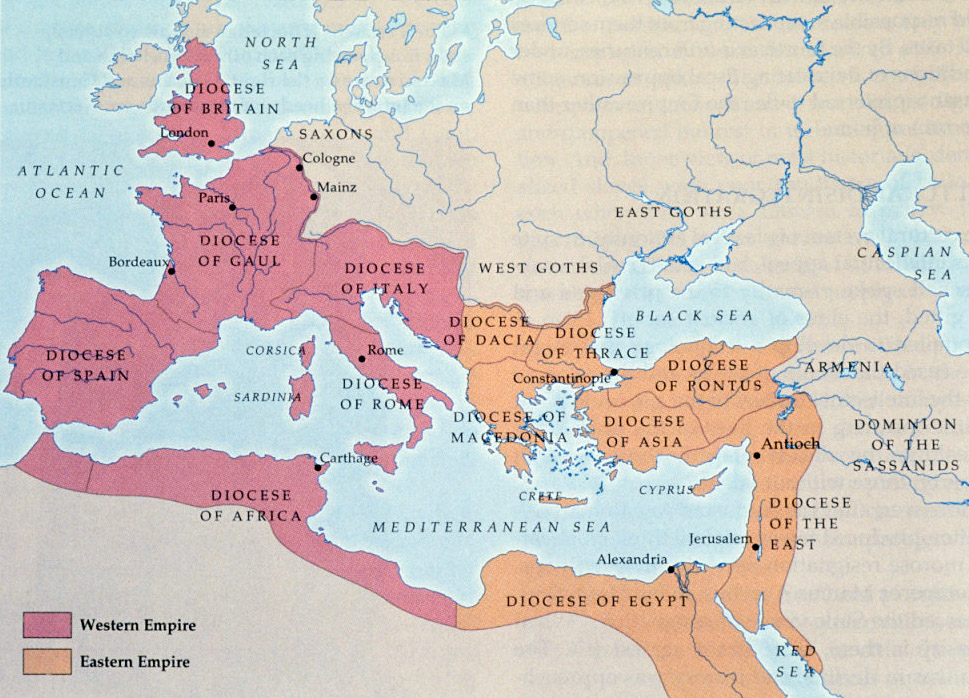 Division Of Empire NovaRoma - Ancient rome map byzantium